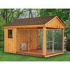 Amish Dog Carts | Home / Amish Dog Kennel - 8 x 12