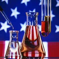 Red, White, and Blue Chemistry Demonstration