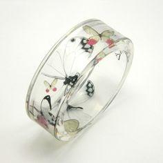 Delicate Summer and Butterflies Bracelet (Etsy)