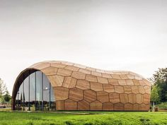 Robots Built This Peanut-Shaped Geometric Building From 243 Prefab Wood Panels   Inhabitat - Sustainable Design Innovation, Eco Architecture...