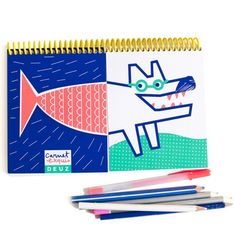 Mix and Match Sketch Book by Deuz. Via Anorak Magazine's Gift Guide: Paper Stuff.