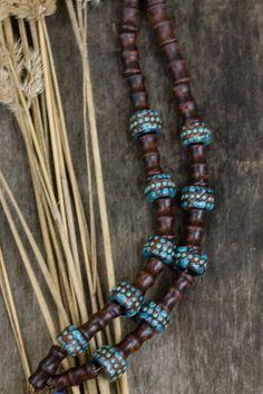 Ebony Blackwood Carved Pendant Elephant Necklace Exotic