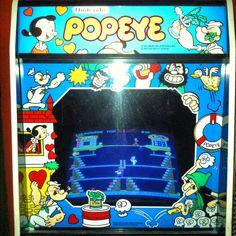 Popeye arcade game, found in the arcade at Kennywood Park in West Mifflin, PA.