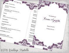Hey, I found this really awesome Etsy listing at https://www.etsy.com/listing/197817555/plum-catholic-wedding-program-template