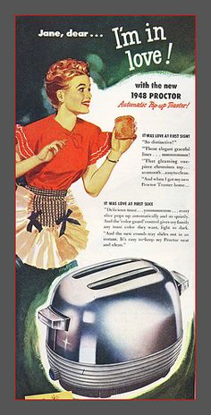 Proctor Toaster - 1948: While packing to move, I found my old inoperative Proctor toaster. This is the exact model. Toasters were once shiny and beautiful.