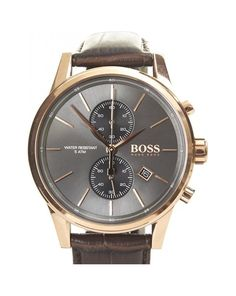 Hugo Boss Watches Brown Leather Strap for Him