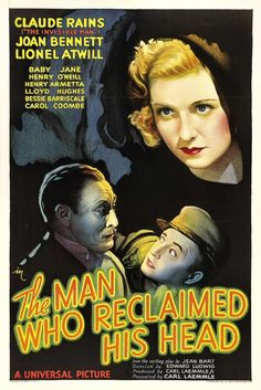 """the man who reclaimed his head"" 1934"