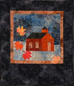 """Little Old One Room Schoolhouse,  23 x 27"""", by Ruth Powers"""