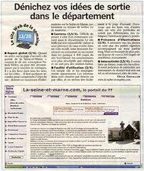 Article paru dans le quotidien Le Parisien édition de Seine-et-Marne Nord et Sud - Le Jeudi 17 Mai 2007