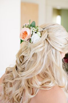 #Hairstyle | See the wedding on SMP: http://www.StyleMePretty.com/canada-weddings/2014/01/27/okanagan-winery-wedding/ Adrian Photography