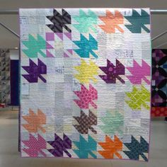 Modern Maples Quilt | by Sheila of the Saskatoon Modern Quilt Guild