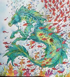 Colored by Sandra Chilvers. #Mythomorphia.