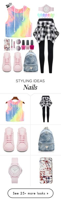 """COLOURFULL!"" by azizanisafitri on Polyvore featuring adidas, Marc Jacobs, Monki, Juicy Couture and OPI"