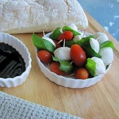 Caprese appetizers! #appetizers