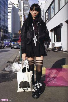 Clothes fruits magazine, japanese street style Do You Know How To Vacuum? Japan Street Fashion, Tokyo Fashion, Harajuku Fashion, Fashion Outfits, Fashion Women, Estilo Harajuku, Harajuku Mode, Harajuku Girls, Harajuku Style