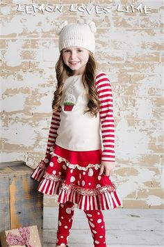 Lemon Loves Lime Holly Jolly Skirt Multi Fall 2014 Preorders for girls clothing that is cute and fashionable Little Girl Closet, Fade Styles, Girl Outfits, Fashion Outfits, Designer Kids Clothes, Cute Little Girls, Holiday Outfits, Stylish Dresses, Clothes For Sale