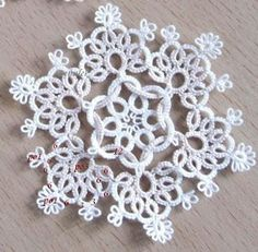 Frywolitki, Tatting, Chiacchierino: frywolitki - pleciugi cd. (Tatted snowflake pattern)