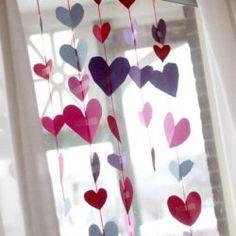 Heart Garland Valentine Craft