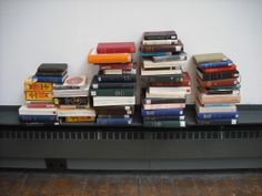 Kathryn McCain's installation was created for the MFA Interim Show in May 2010. Taking as her departure point the recent banking crisis and subsequent economic recession, Kathryn sought to borrow every copy of Adam Smith's Wealth of Nations available for loan in Glasgow, including the GSA Library's own copies. These collected loans were then installed in the GSA's Mackintosh Museum space.