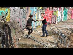 Veit and Sahra: Swinging @ A Berlin Wall