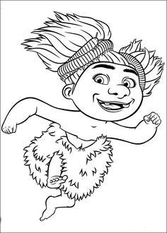 Dibujos para Colorear. Dibujos para Pintar. Dibujos para imprimir y colorear online. Los Croods 11