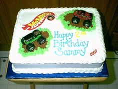 """Hot Wheels"" Monster Truck Cake... By CRAZEEDUCK on CakeCentral.com"