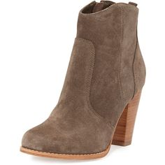 Joie Dalton Suede Bootie (35845 DZD) ❤ liked on Polyvore featuring shoes, boots, ankle booties, ankle boots, schuhe, dark gray, suede ankle boots, suede ankle booties, suede boots and suede booties