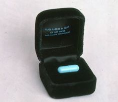 Invitation to an Area night club party. The capsule was placed in water and the invitation appeared. Area was open from 1983 to 1987.