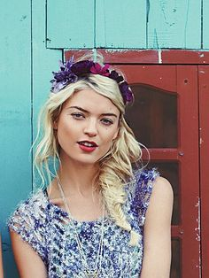 Totally going to DIY this Ribbon/flower headdress from #FreePeople for #JazzFest