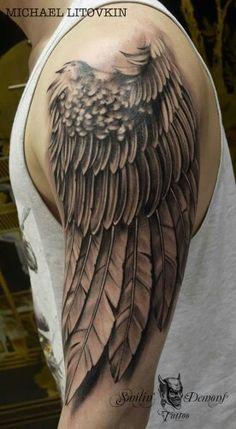 Eagle Wing Tattoos, Wing Tattoo Men, Tribal Arm Tattoos, Feather Tattoos, Nature Tattoos, Forearm Tattoos, Body Art Tattoos, Chinese Tattoo Designs, Abstract Tattoo Designs