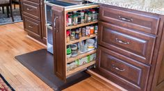 Do your spices have a home of their own?? If not, we think they should. Check out this organization … designed by The Washington Kitchen Gallery in Maryland! Job well done!  The Washington Kitchen Gallery: http://www.washingtonmarble.com/ Houzz: http://www.houzz.com/projects/users/twkg Showplace Wood Products: http://www.showplacewood.com/