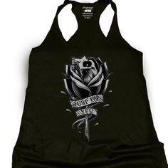 Black Skull Rose Racerback Tank