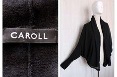 CAROLL-cardigan-noir-100-laine-empiecement-100-soie-taille-L. Haljina  Prodaja · marques sur ebay cfc958f5416