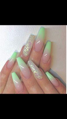 30 ideas for great stiletto nail designs .- 30 ideas for great stiletto nail designs – stiletto nail art – NailiDeasTrends – # for # great - Nail Art Designs, Acrylic Nail Designs, Green Nail Designs, Ombre Nail Designs, Blog Designs, Best Acrylic Nails, Summer Acrylic Nails, Acrylic Nails Green, Mint Green Nails