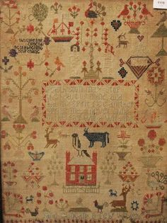 An early 19th century sampler worked by Jane Duncan