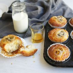 #RecipeoftheDay: Yoghurt and Banana Muffins by grooies make a delicious lunch box treat.