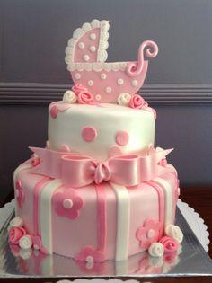 Bassinet baby shower cake!