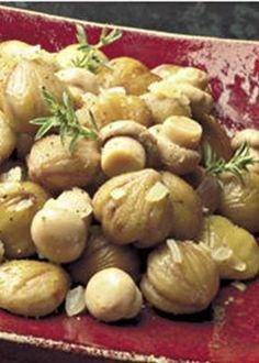 Castanhas Salteadas com Cogumelos