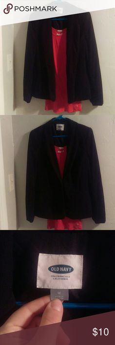 Classic Black blazer New New without tags Classic black blazer. Slightly padded shoulders, single button closure. Old Navy Tops Blouses