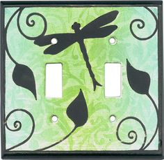 DRAGONFLY SILHOUETTE Switch Plates, Outlet Covers & Rocker Switchplates
