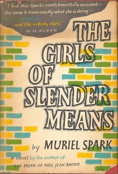 ★★☆☆☆  The Girls of Slender Means (1963) by Muriel Spark begins with one of the best lines I've ever read since Nabokov's Lolita. It's a slim read that is best equipped for the alienated sorority sister to confirm the reality of her experience and the characters that surround her. Darkly, it jokes around with catholicism and what it means to be a woman in London during the forties. Though British writing is not my cup of tea during this time period, I laughed at some parts and thought the..