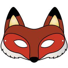 Pdf masque renard a colorier deguisements masque renard masque animaux et masque - Masque de renard a imprimer ...