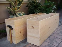 garden boxes Custom Planters, Vegetable Garden Planters, Cedar Wood, 16 inch deep x 10 wide x ANY LENGTH, Redwood available