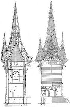 Makovecz történetei - vázlat építészetének olvasatához Gaudi, Architecture Organique, Organic Architecture, Barcelona Cathedral, Woodland, Catholic, Shed, Timber Frames, Exterior