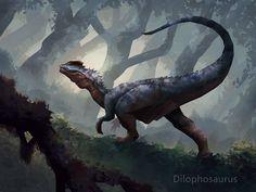Dinosaur by mattforsyth on DeviantArt Dilophosaurus Dinosaur Art Projects, Dinosaur Crafts, Dinosaur Fossils, Dinosaur Images, Dinosaur Pictures, Jurassic World Dinosaurs, Jurassic Park World, The Good Dinosaur, Cute Dinosaur
