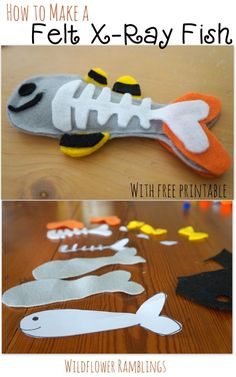 How to make a Felt X-ray Fish {ABC Felt Animals} with FREE printable from Wildflower Ramblings