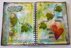 #papercraft #artjournal -  Astridsartisticefforts.blogspot.com journal spread for the Artistic Stamper