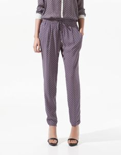 TROUSERS WITH TIE PRINT - ZARA United States