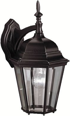"""0-006314>17""""""""h Madison 1-Light Outdoor Black Painted"""
