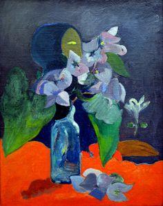 Paul Gauguin - Nature morte aux fleurs et a l'idole, 1892